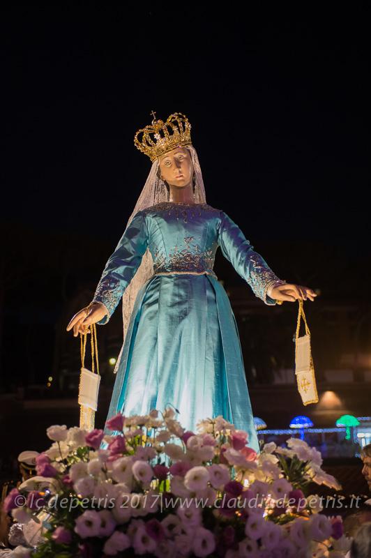 Roma: Processione per la Madonna Fiumarola, 30/7/2017