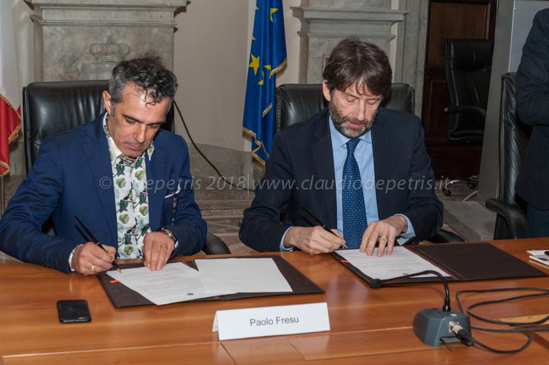 Paolo Fresu (S) e il Ministro Dario Franceschini